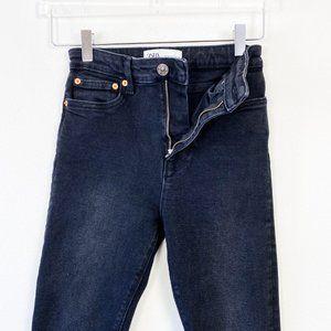 Zara Black Retro High Rise Skinny Jeans 2